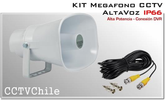 Megafono CCTV Activo Altavoz Ip66 - Alta potencia