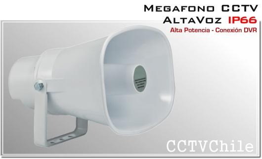 Megafono CCTV Activo 12v Altavoz Ip66 - Alta potencia