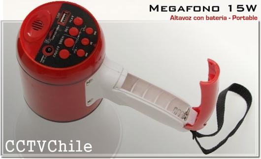 Megafono Altavoz Activo Portatil 15W Handheld - Alta potencia - Altavoz clases aulas excursiones reuniones