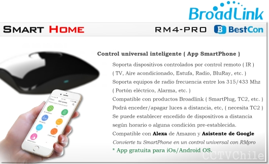 RM4-PRO Alexa Google Assistant RMPRO Chile Control remoto universal inteligente | Smart RMPRO | Smart CHILE | BROADLINK CONTROL REMOTO A DISTANCIA SMARTPHONE