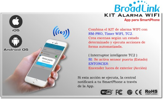 SmartOne S1 KIT Alarma WIFI Inteligente | ALARMA CHILE | ALARMA BROADLINK ENCEDIDO A DISTANCIA SMARTPHONE