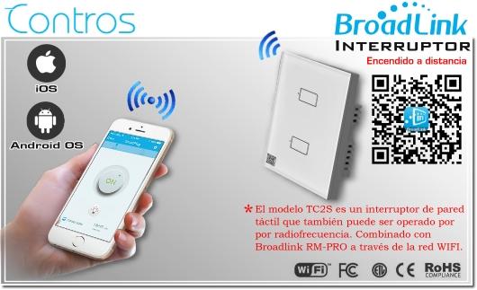 Broadlink TC2-2 Chile Interruptor de luz inteligente Smart   PLUG CHILE   BROADLINK ENCEDIDO A DISTANCIA SMARTPHONE