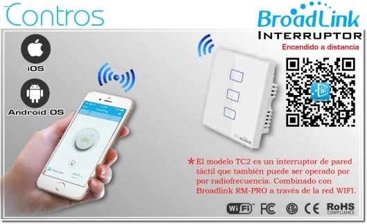 TC2-3 Chile Interruptor de luz inteligente Smart | PLUG CHILE | BROADLINK ENCEDIDO A DISTANCIA SMARTPHONE