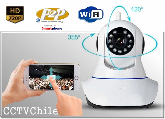 Camara IP Digital PT RobotCam XPROHD - Sensor SONY 720p HD - Audio - Microfono - Movimiento - P2P - xMeye