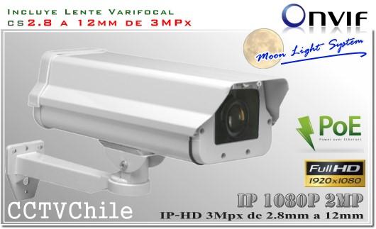 Camara IP Digital BoxCam XPROHD - Sensor SONY 720p - SONY 1080p - Antivandalica - Vandalproof - IP66 - IP67 - Vandalproof - Weatherproof - Onvif - POE - MOONLIGHT - MOON