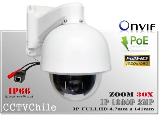 Camara IP PTZCam XPROHD PoE- Sensor  SONY 1080p - Antivandalica - Vandalproof - IP66 - IP67 - Vandalproof - Weatherproof - Onvif - POE - NVR - ZOOM 30x