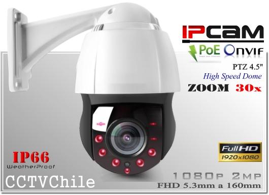 Camara IP PTZCam XPROHD PoE- Sensor  SONY 1080p - Antivandalica - Vandalproof - IP66 - IP67 - Vandalproof - Weatherproof - Onvif - POE - NVR - ZOOM 30x IR 150 200 metros