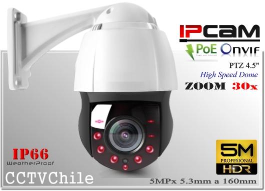 Camara IP PTZCam XPROHD PoE- Sensor  SONY 5MP - Antivandalica - Vandalproof - IP66 - IP67 - Vandalproof - Weatherproof - Onvif - POE - NVR - ZOOM 30x IR 150 200 metros