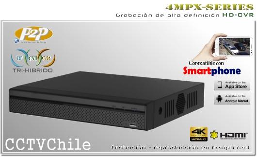 HD-CVR-4mpx Tri-Hibrido Dahua - XPROHD - 4MPXCVR - 1080p - 720p - 8TB