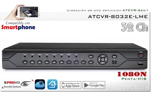 HD ATCVR 6 en 1 - FullHD 1080p - XPROHD - XVI-AHD-CVBS-TVI-CVR-IP - 1080N - 16 audios
