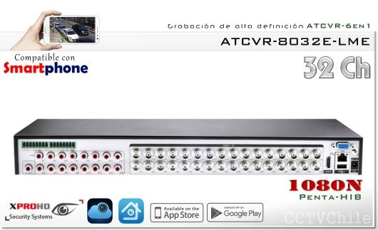 HD ATCVR 6 en 1 - FullHD 1080p - XPROHD - XVI-AHD-CVBS-TVI-CVR-IP - 1080N - 4 audios