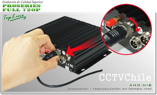Conexion aviacion Black box - DVR Movil HD 720p - 4 canales de video analogo HD - blackbox vehiculo movil - connector aviation