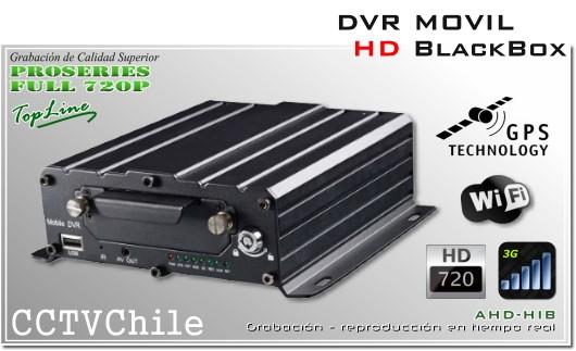Black box - DVR Movil HD 720p - 4 canales de video analogo HD - blackbox vehiculo movil - GPS - 3G - WIFI - Smartphone