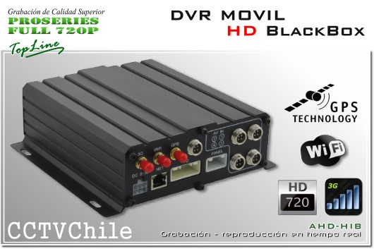 Conexion aviacion Black box - DVR Movil HD 720p - 4 canales de video analogo HD - blackbox vehiculo movil - connector aviation - back rear panel - GPS - 3G - WIFI - Smartphone