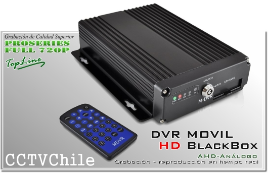 Black box - DVR Movil HD 720p - 4 canales de video analogo HD - blackbox vehiculo movil