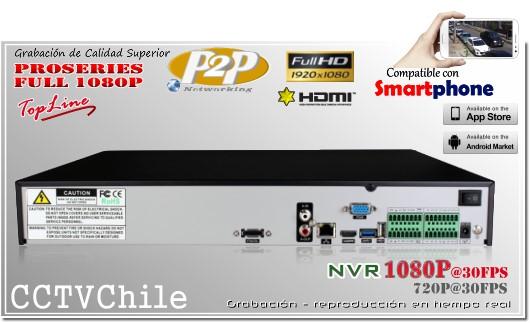 HD-NVR 24Ch Rear Panel - XPROHD - FULLHD - 1080p - 720p - 16TB