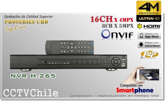 NVR 4K UHD Ultra HD 16ch Front Panel - XPROHD - FULLHD - 1080p - 4K