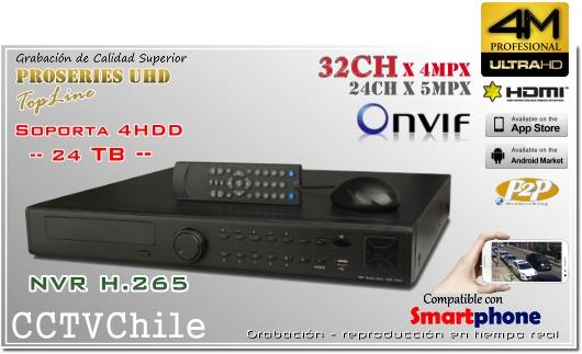 NVR 4K UHD Ultra HD 32ch Front Panel - XPROHD - FULLHD - 1080p - 4K