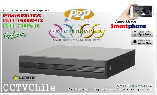 XVR-HD Penta-Hibrido Dahua - XPROHD - FULLHD - 1080p - 720p - 6TB - 1A04 Dahua