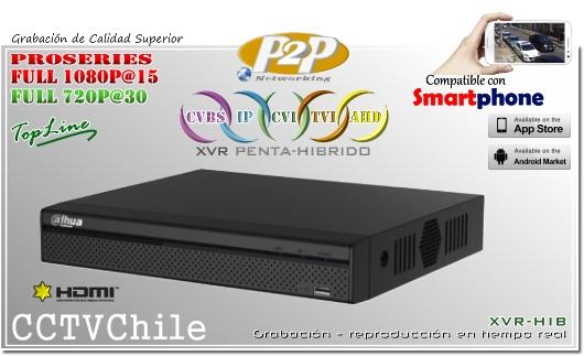 XVR-HD Penta-Hibrido Dahua - XPROHD - FULLHD - 1080p - 720p - 8TB