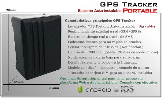 Localizador GPS Portable TK303 XPORHD - Batería 12000mA - GPS Espia Satelira Red - SIM card Tarjeta