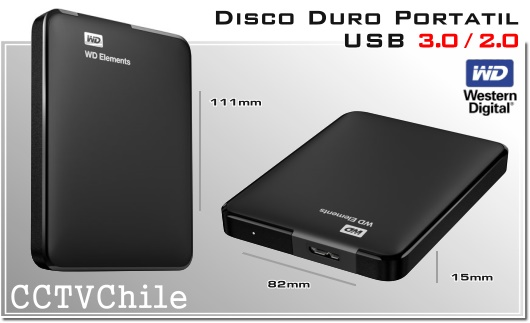 Wester Digital - Disco Duros USB Externo Portatil - 750GB - HDD USB 3.0