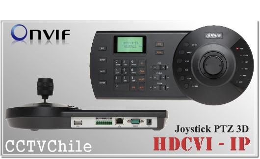 Joystick 3D cámaras PTZ | Soporta IP - CVI y análogas