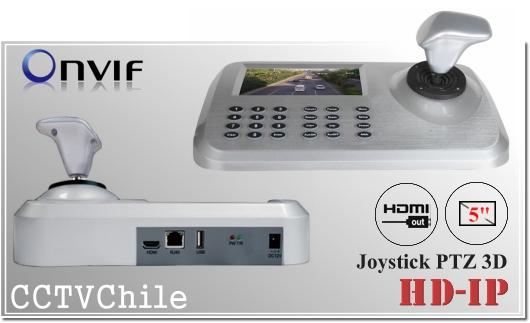 Joystick 3D cámaras PTZ Pantalla 5 pulgadas - HDMI out | Soporta IP - NVR Serie CMS xMeye