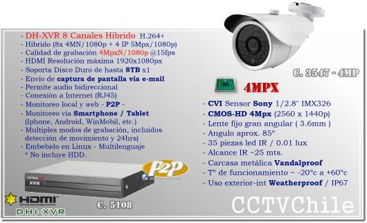 KIT Full HD CVR 4Ch DVR - Oferta - P2P - KIT seguridad - Kit Vigilancia - Promocion - XPROHD - 1080p - 2mpx - 2 megapixeles
