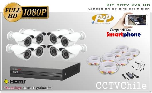 KIT Full HD - CVI hibrido 8Ch - Oferta - P2P - KIT seguridad - Kit Vigilancia - Promocion - XPROHD - hd - 1080p - 1920x1080p