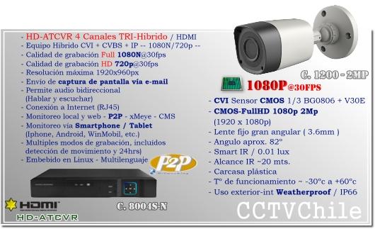 KIT Full HD - CVI trihibrido 8Ch - Oferta - P2P - KIT seguridad - Kit Vigilancia - Promocion - XPROHD - hd - 1080p - 1920x1080p