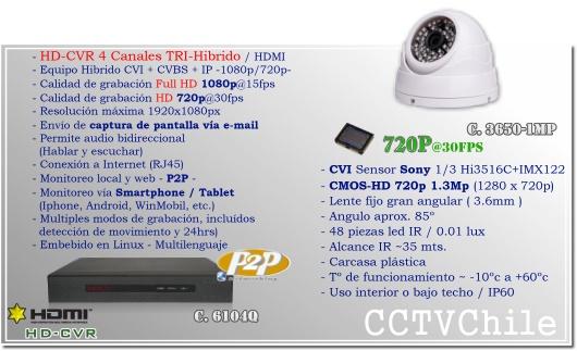 KIT Full DVR 4Ch HDCVR - Oferta - P2P - KIT seguridad - Kit Vigilancia - Promocion - XPROHD