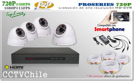 KIT Full - HDCVR trihibrido 4Ch - Oferta - P2P - KIT seguridad - Kit Vigilancia - Promocion - XPROHD - hd - 720p - 1280x720p - FULLHD