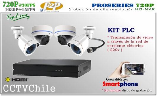 KIT Full - HD NCVR PLC 8Ch - corriente electrica 220v - P2P - KIT seguridad - Kit Vigilancia - Promocion - XPROHD - hd - 720p - 1280x720p - FULLHD