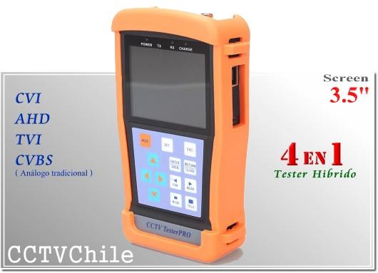Tester Pro 3.5'' - Tester Hibrido - Tester CCTV - Tester Camaras - TesterPro Hybrid - Tester - Screen - 3.5' pulgadas