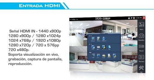 Tester Pro 4.3'' - Tester Hibrido - Tester CCTV 4K 8Mp 4MP Megapixel - Tester Camaras - TesterPro Hybrid - Tester WIFI - Tester Touch - TouchScreen - 4.3' pulgadas