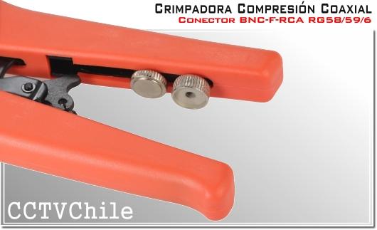 Herramienta Crimpadora Rg58 RG59 RG6 - Cable Coaxial - Crimpeadora RG59 RG6 - Para cable coaxial RG58 RG59 RG6 - Conector BNC F RCA compresion Otros crimpiadora