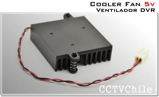 Ventilador y disipador cooler fan 5v dvr dahua xprohd