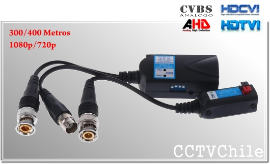 Video Balun Rx Activo + Tx Pasivo 1080p HD-CVI++