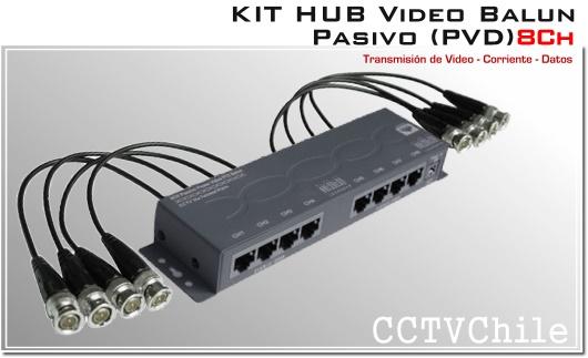 CVI v/ídeo y Datos para PTZ CCTV HD CCTV Video Balun PVD alimentaci/ón AHD TVI
