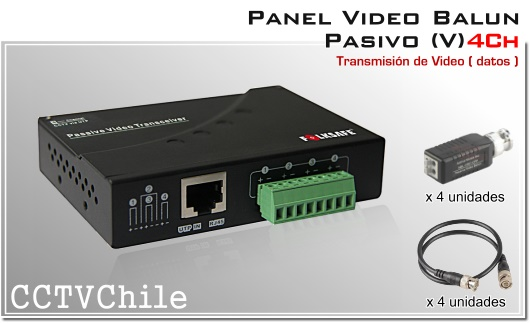 PANEL VIDEO BALUN PASIVO CCTV 4504SR-III 4 canales