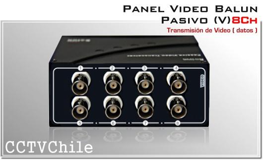 PANEL VIDEO BALUN PASIVO CCTV 4608SR-III 8 canales