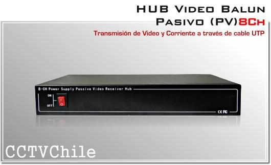 HUB VIDEO BALUN PASIVO CCTV 4608VPS 8 canales