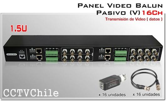 PANEL VIDEO BALUN PASIVO CCTV 4616SR-III 16 canales