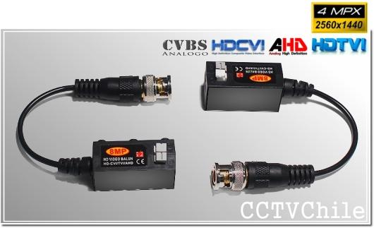 Video Balun Pasivo Tx y Rx 4MP HD-CVI++