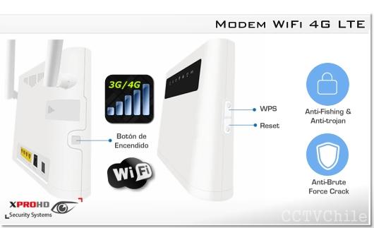 CPE 4G LTE WiFi Router Interior Liberado, 4 LAN 1 WAN, 12V IN