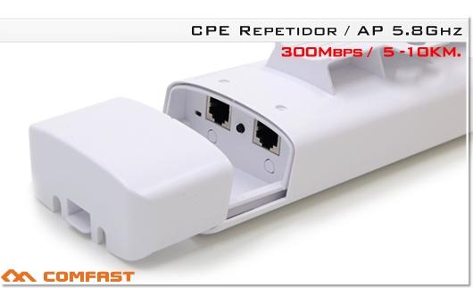 Comfast CF-E312AV2 1200Mbps Repetidor de enrutador WIFI al aire libre 5.8G 300Mbps + 5Ghz 867mbps 1200mbps