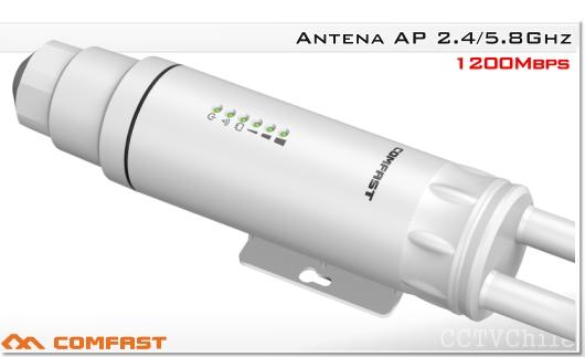 Comfast CF-EW74 1200Mbps Repetidor de enrutador WIFI al aire libre 2.4G 300Mbps + 5Ghz 867mbps 1200mbps