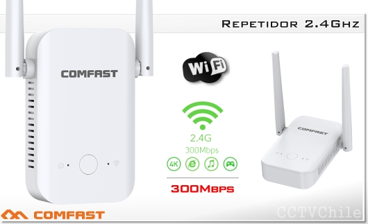 COMFAST Repetidor WIFI inalámbrico 300Mbps 2.4Ghz
