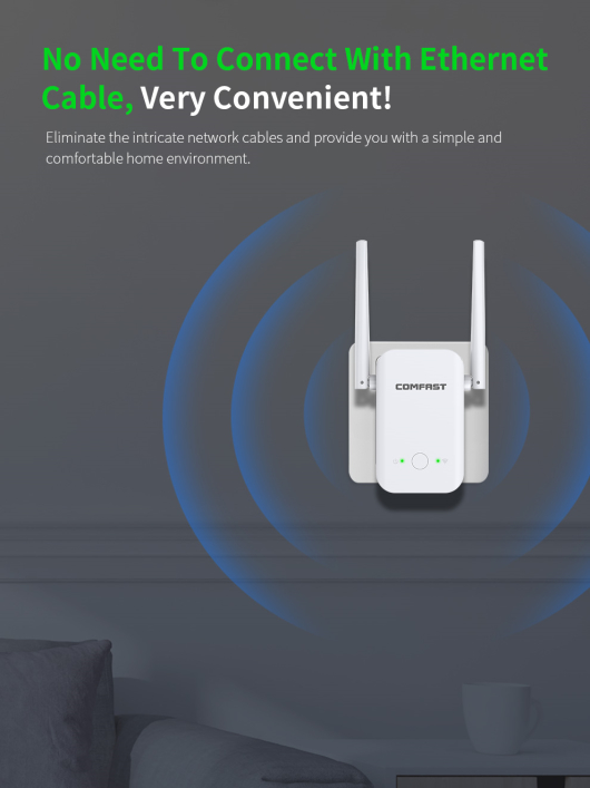 Comfast CF-WR301S 1200Mbps Repetidor WIFI 2.4G 300Mbps + 5Ghz 867mbps 1200mbps
